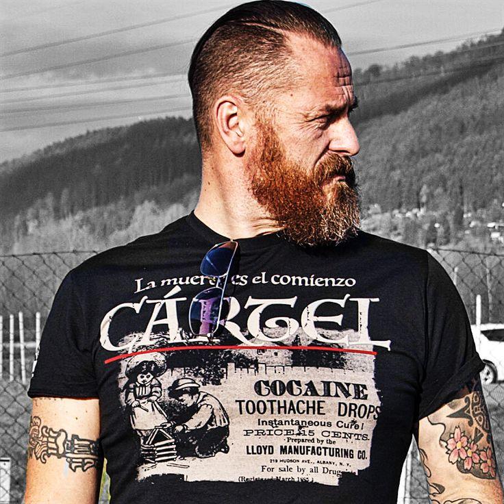 Available now on www.carteloriginal.com #tattoo #tattoos #tattooed #tattolife #tattooedlife #tattoedboy #tattoostyle #tattooapparel #streetstyle #streetwear #bearded #tee #beard #ink #inked #inklovers #inkstagram #inkedup #inkedmag #inkedboy #inkedlife #inkaddict #fashion #premiumbrand #premiumquality #tatoo #tatuajes #shirt #tetovani #mensfashion