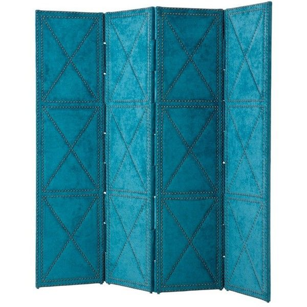 eichholtz duchamp folding screen large petrol liked on polyvore featuring home home decor panel screens room dividers blue folding room
