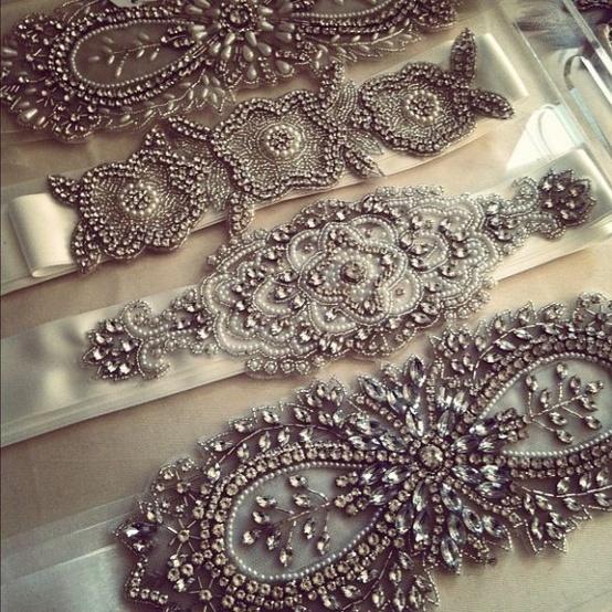 www.weddbook.com everything about wedding ♥  Vintage Bridal Accessories  ♥ Gorgeous Wedding Bridal Sash | Ozel Tasarim Tasli Kemerler
