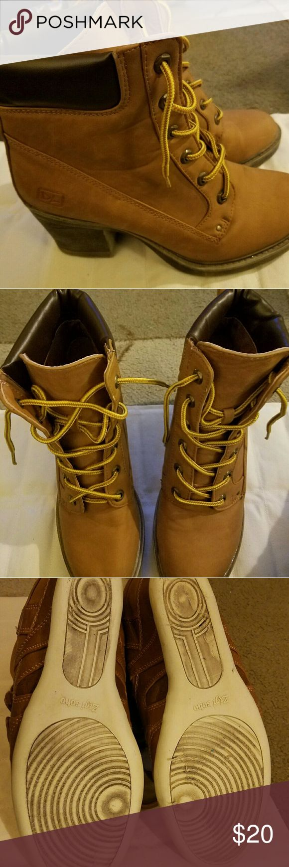 Timberland Style Boots Excellent condition. Minor wear on soles. Dirty Laundry  Shoes Ankle Boots & Booties