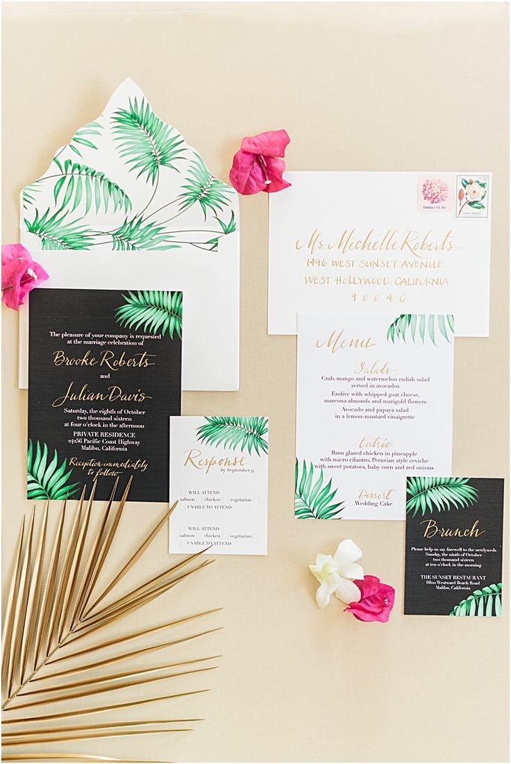 navy blue and kelly green wedding invitations%0A Tropical Wedding Invitations  In the Press