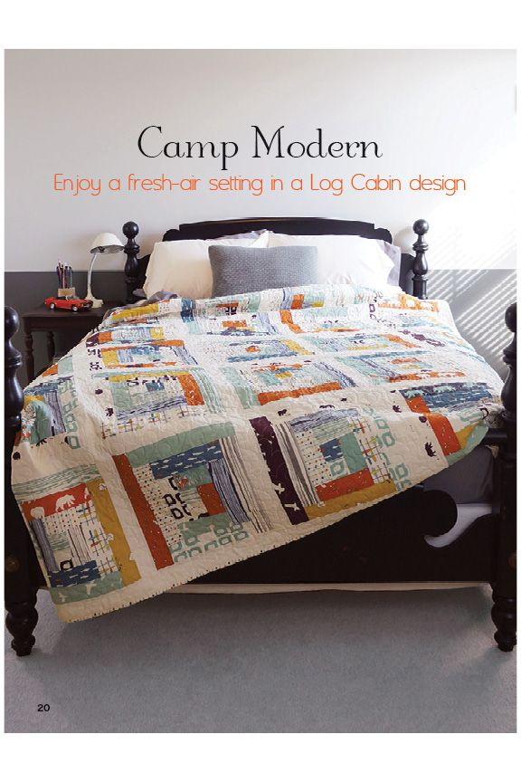 Camp Modern. Traditional pattern meets contemporary motifs for a great modern camp look.