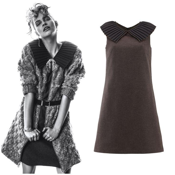 Karolina Pisarek i nasz bestseller - sukienka z kryzą Wool dress New vintage style size: XS-XL