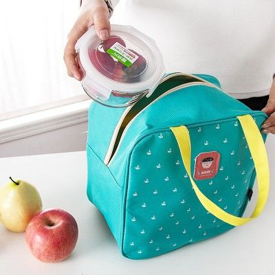 large volume lunch bag candy color bolsa termica canvas lancheira