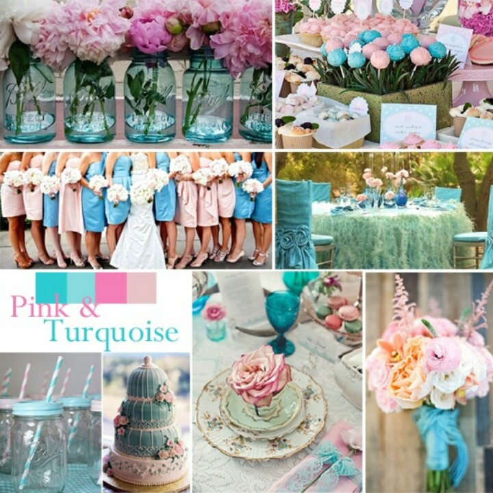 Pink Turquoise Silver Wedding Ideas On Beach Weddings