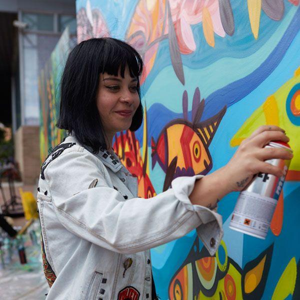 Taller de stencil y graffiti #VenAPalatino