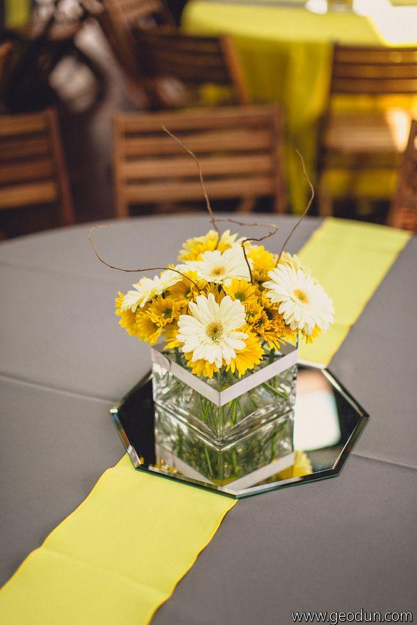 75 best daisy wedding images on pinterest bridal bouquets gerber daisy centerpiece floral decor lighting by disch events dischevents junglespirit Gallery