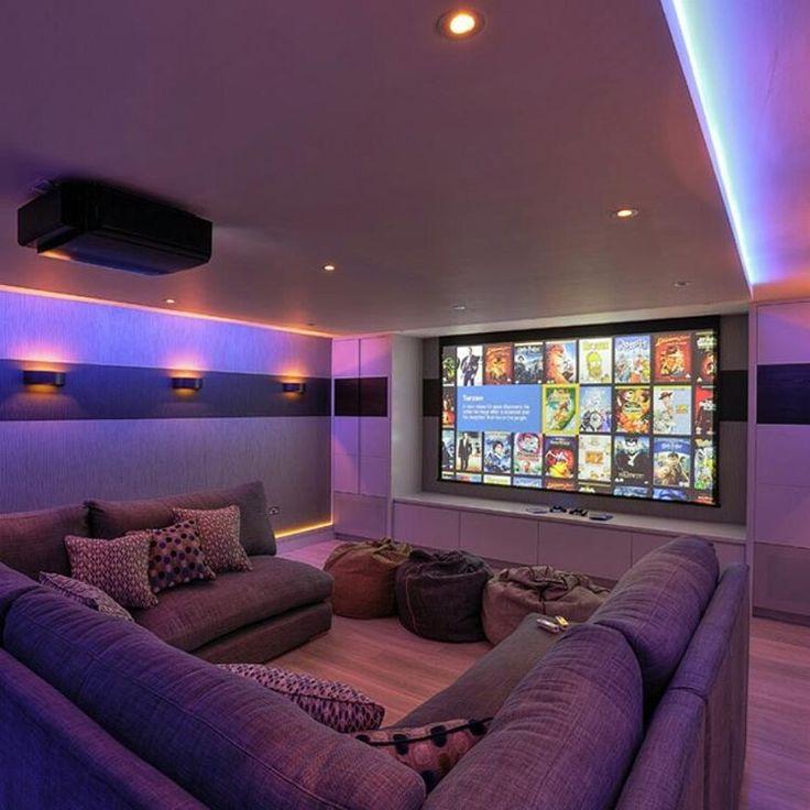Basement Home Theater basement ideas on a