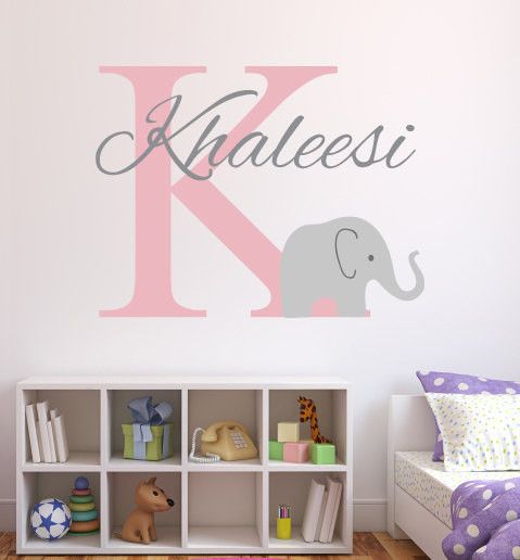 Unique Monogram Wall Decals Ideas On Pinterest Personalized - Monogram wall decal for kids