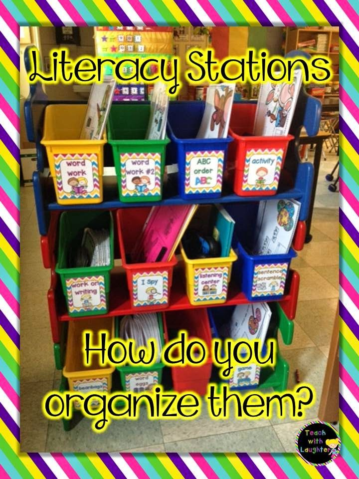 How do you organize literacy stations for student access?  Let's talk about it!