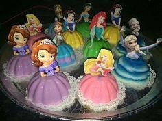 bolos gelatina princesas Mais