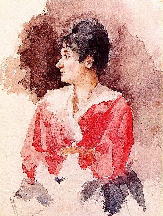 Профиль итальянской женщины. Мэри Кассат