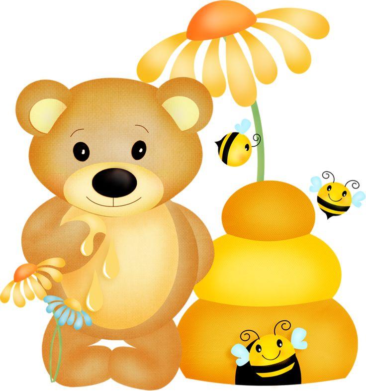 картинки мишка и пчелы можно использовать