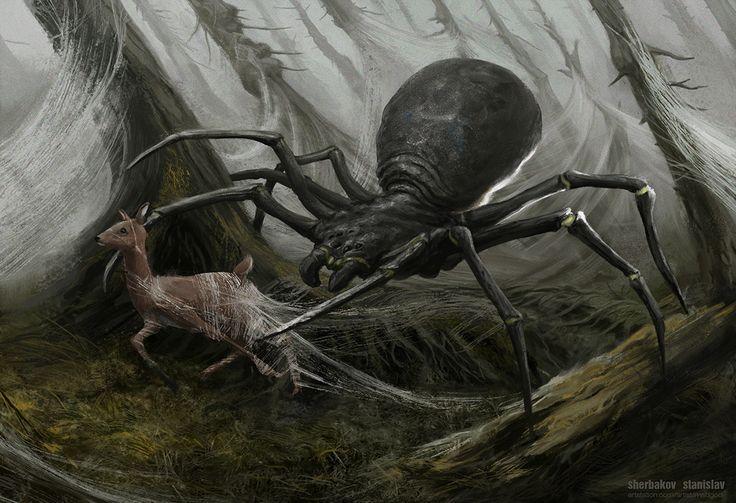 Spider 01, Sherbakov Stanislav on ArtStation at https://www.artstation.com/artwork/24GAA