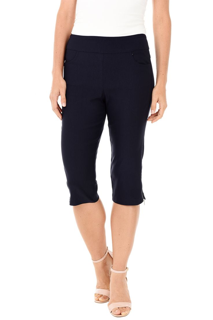 Pull-On Stretch Pedal Pusher Pant