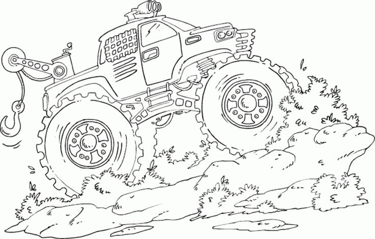 Printable Monster Truck Coloring Pages Free Printable Monster Truck Coloring Pages For Kids