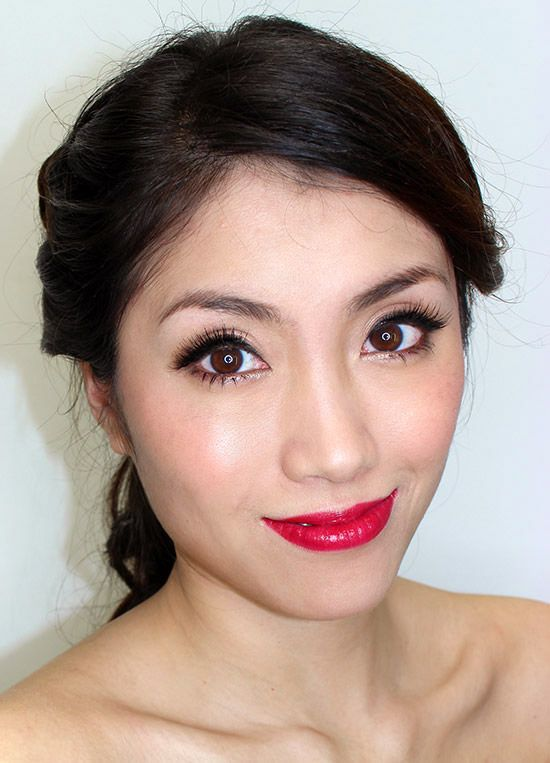 asian-bridal-makeup-red-lips.jpg (550×763)