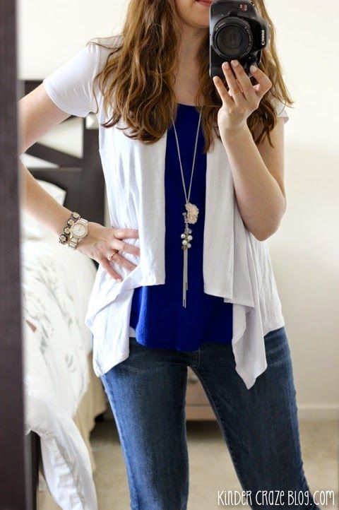 Stitch Fix Stylist - Love the style of this short sleeve cardigan. Simple yet feminine. Great for throwing over a nice sleeveless shirt during the spring/summer.