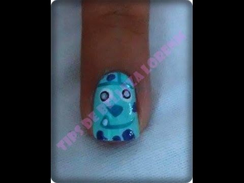 "DIY. NAIL. UÑAS CON MONSTER UNIVERSITY ""TIPS DE BELLEZA LORENM"""