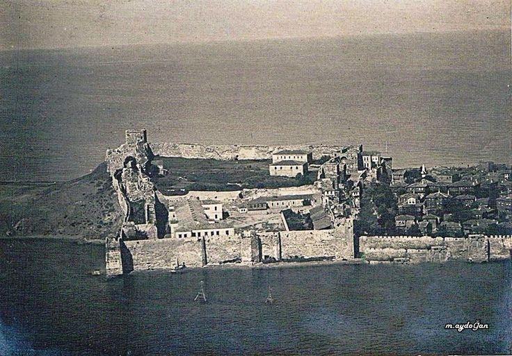 Sinop Kalesi (Cezaevi) 1920 Rus uçağı hava fotoğrafı