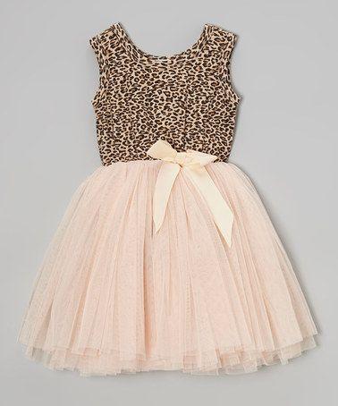Pink & Tan Miss Pussycat Tutu Dress by Designer Kidz on #zulilyUK today!