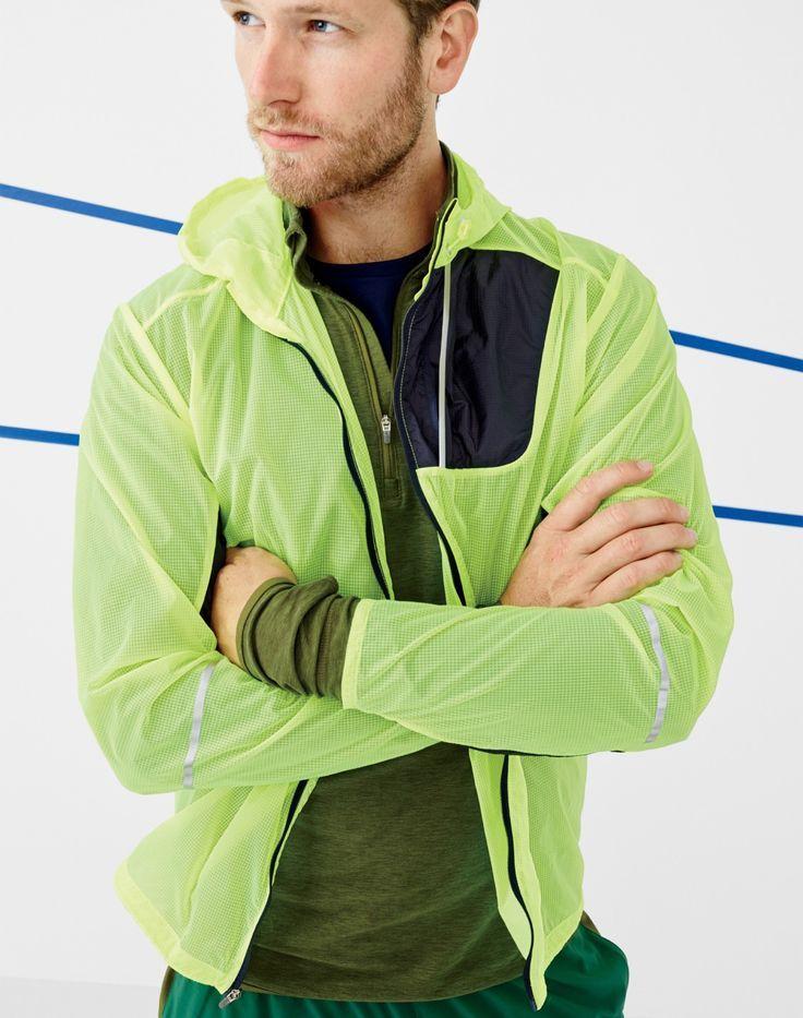 553f3a24b5d28 New Balance for J.Crew men's lightweight packable jacket, half-zip  pullover, cooling workout T-shirt, and workout short.