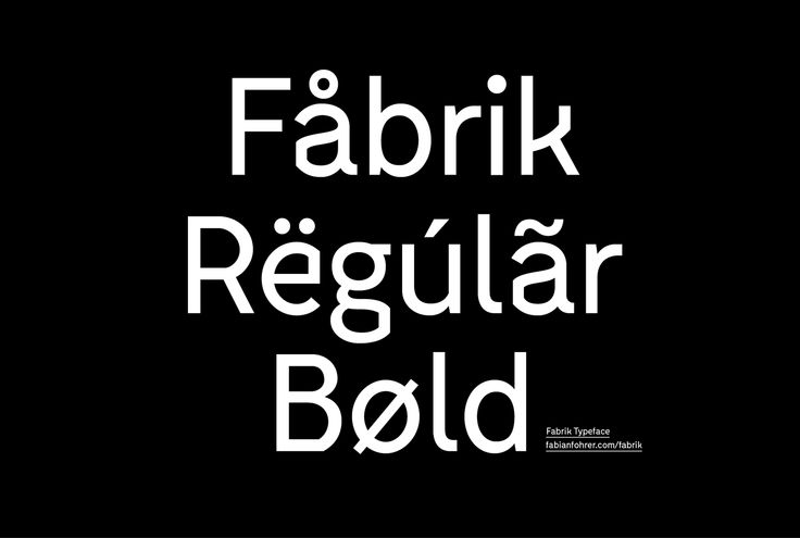 Fabrik Typeface on Behance