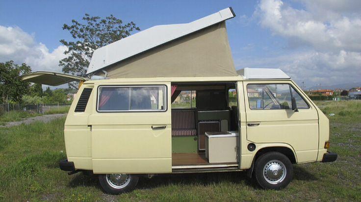 Hello my name is Gelatino ,I'm perfect for a romantic road trip across Sardinia VW T3 Westfalia campervan