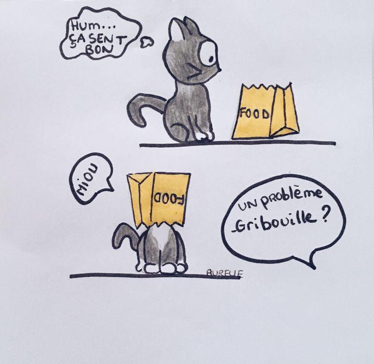 BD / Gribouille et le sac en papier    #bd #chat #blog #gribouille #cat