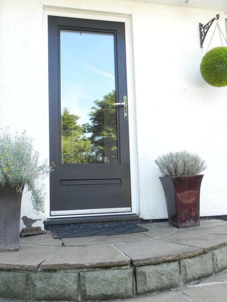 A simply stunning Black Ash Classic Rockdoor with clear glass design. #Rockdoor #CompositeDoor #HomeDecor