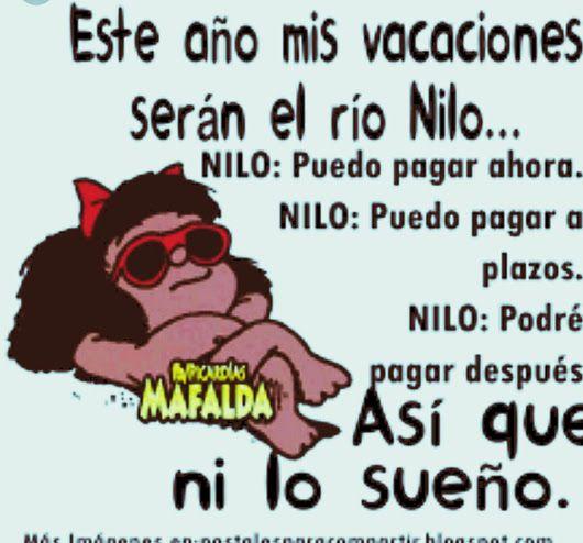 Siempre con una sonrisa!!!! Muy buen Domingo!!!! - Maria Lazo - Google+ #Mafalda