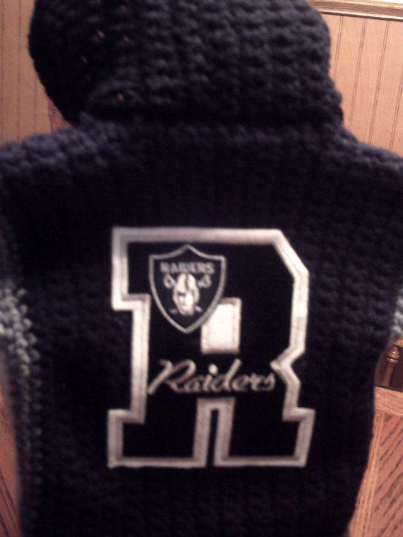 NFL Team Hoodie Raiders Baby by inkybinkyproductions on Etsy, $45.00