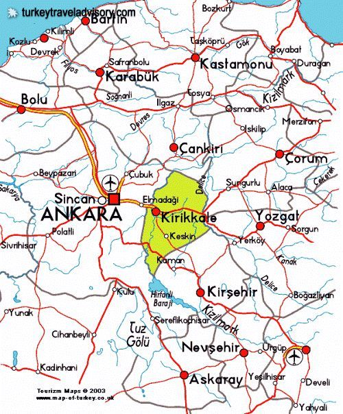 cool Map of Ankara Tourist