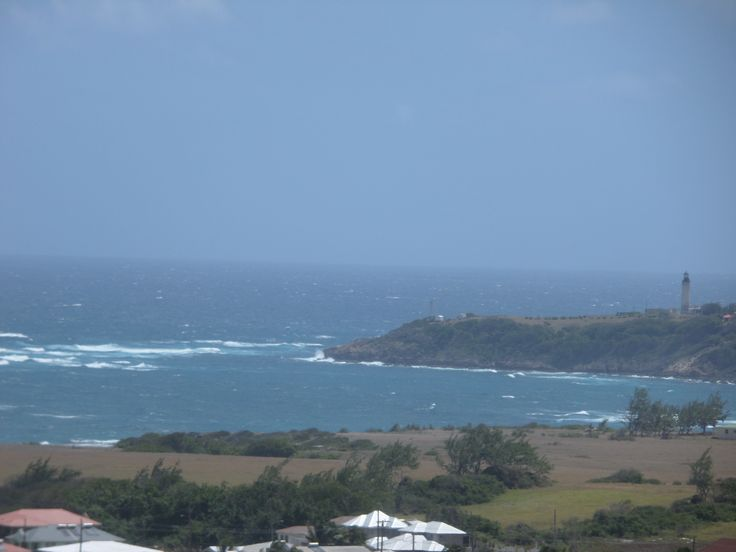 Light house at Ragged Point (East Coast) from St. Mark's Church