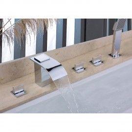 Milly Cascade Waterfall 5 Hole Bath Filler Mixer Shower