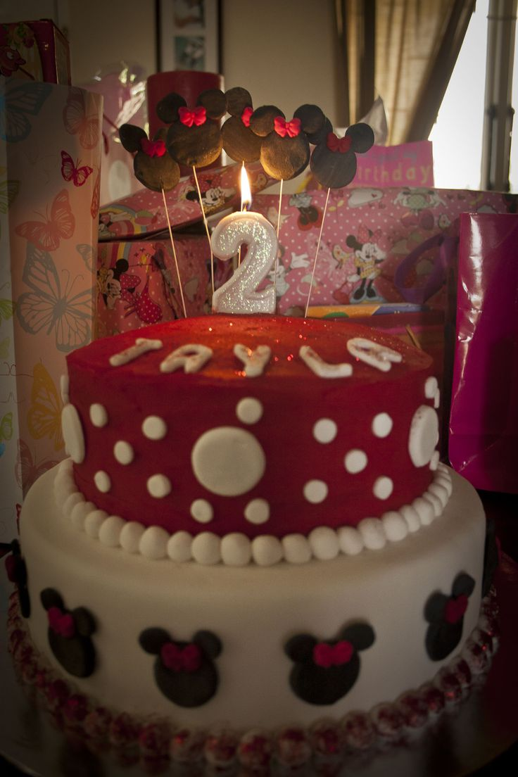 Minnie Mouse cake for Tayla's 2nd birthday