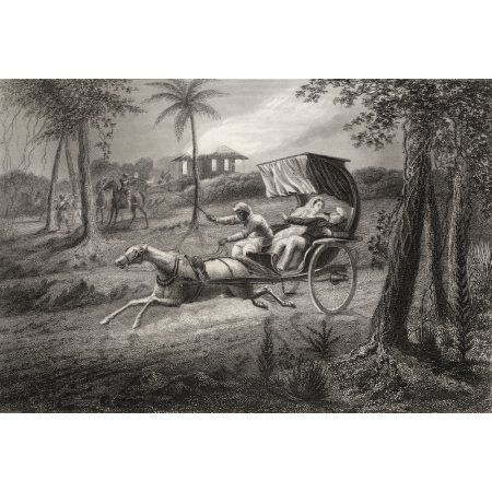 Dr Graham Shot In His Buggy By The Sealkote Mutineers 1857 From The History Of The Indian Mutiny Published 1858 Canvas Art - Ken Welsh Design Pics (34 x 24)