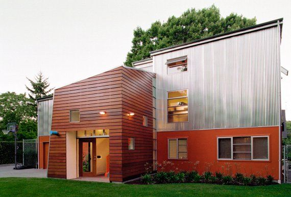 Contemporary wood siding remodel remodel pinterest for Modern exterior wood siding