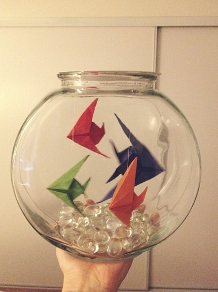 Origami Fish Bowl by Courtney Seymour