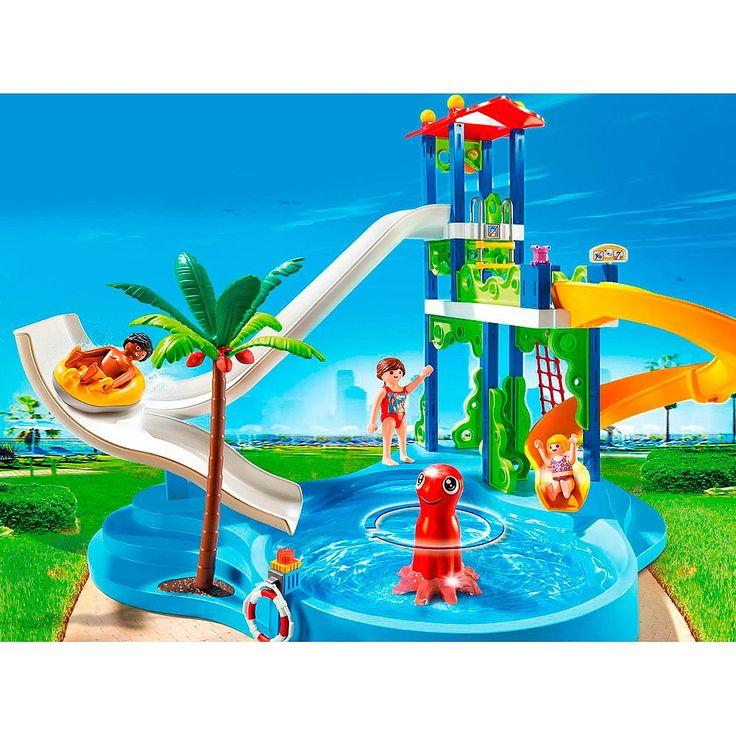 Divi rtete en el espectacular y refrescante parque acu tico de playmobil playmobil es lo - Piscina toys r us ...