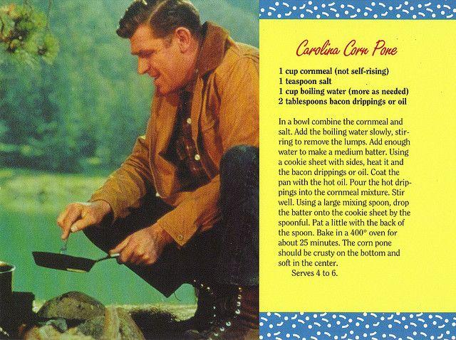 Mayberry Carolina Corn Pone Recipe Postcard