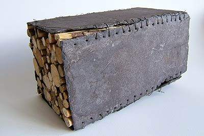 Stitched slate box by Mike Hill