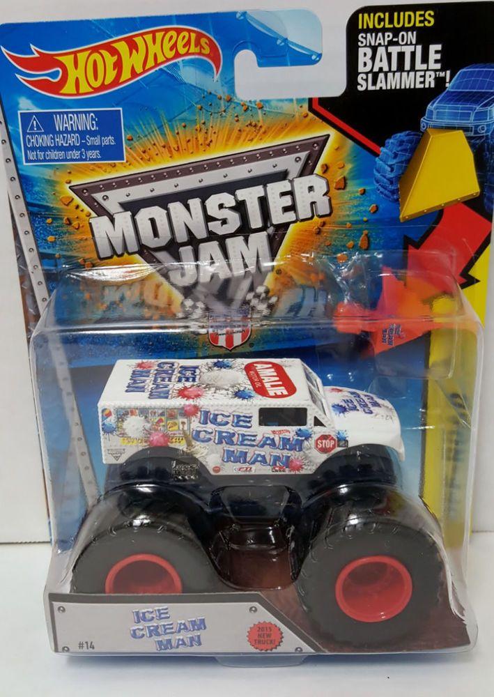 hot wheels monster jam truck battle slammer new ice cream