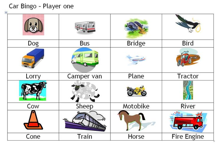 car bingo 1