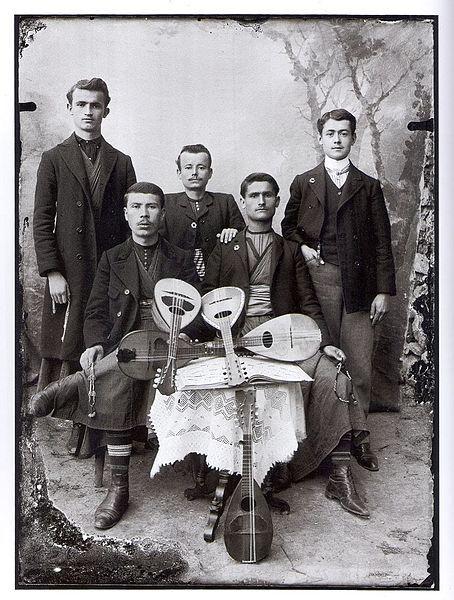 Young Men with Mandolinas in Kastoria by Leonidas Papazoglou