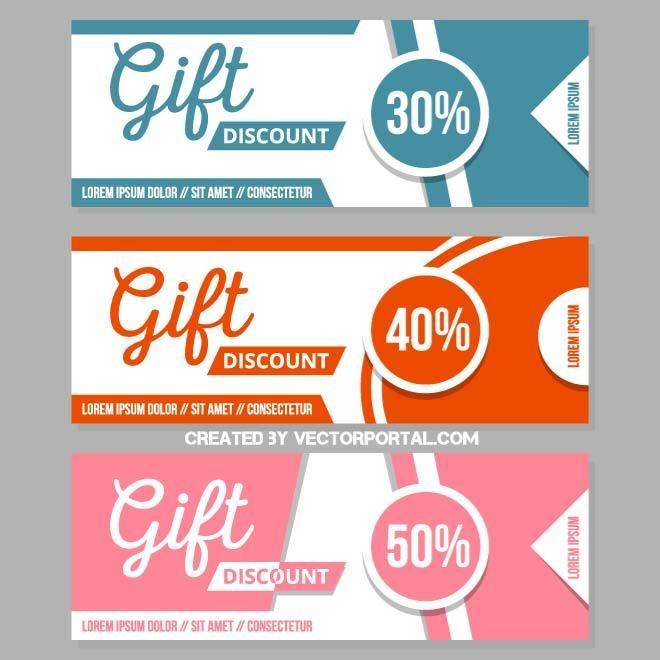 Discount coupons vector.
