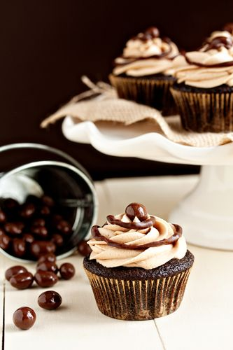 Café Mocha Chocolate Cupcakes Recipe from My Baking Addiction