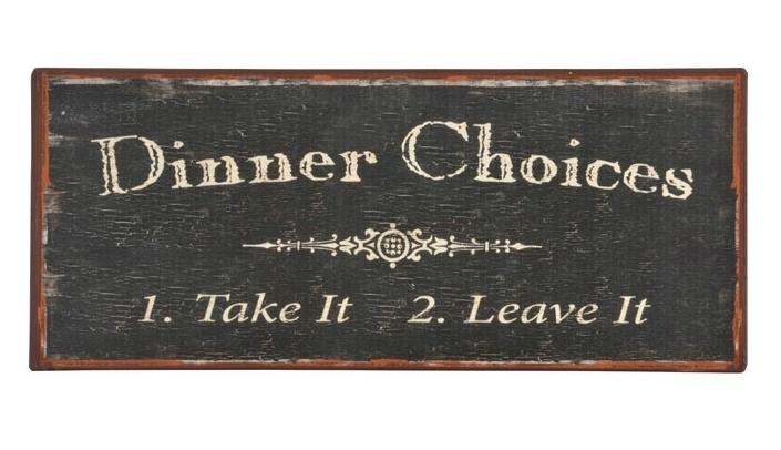 Kyltti Dinner choices