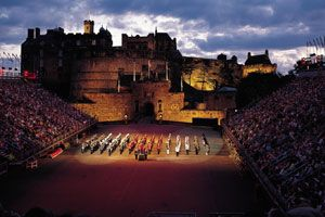 Edinburgh Castle...Royal Tattoo...Suuuuper interesting to watch.