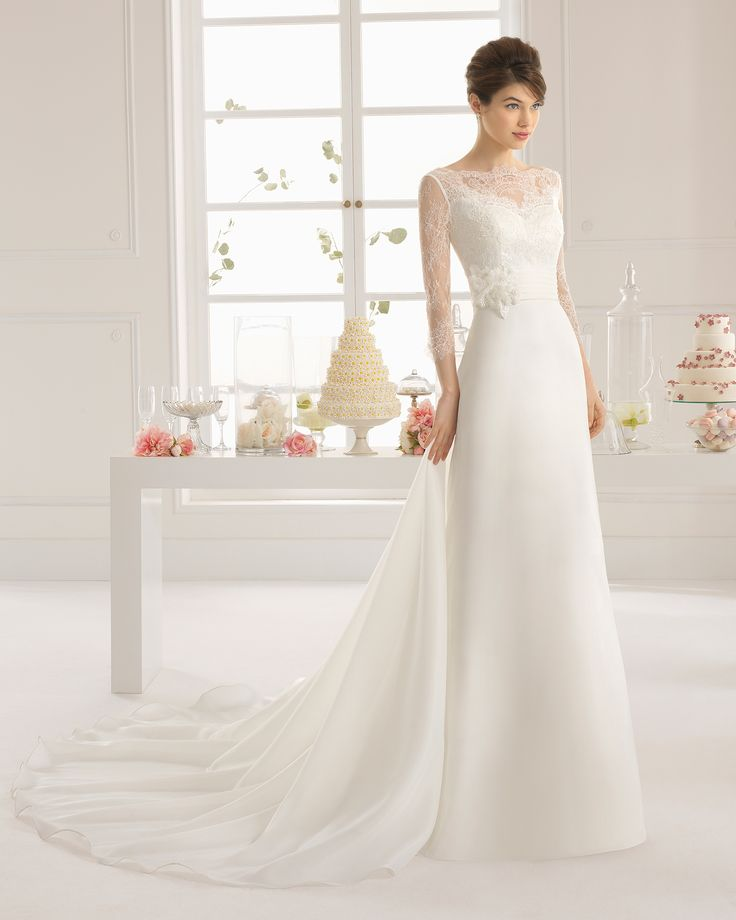 Aire Barcelona 2015 Bridal Collection - Antonela (front) - Available at Stella's Bridal & Evening Collections